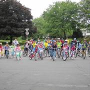 Wolfie's Bike Train, Wolftrap Elementary School, Fairfax County Photo Credit: Jeff Anderson