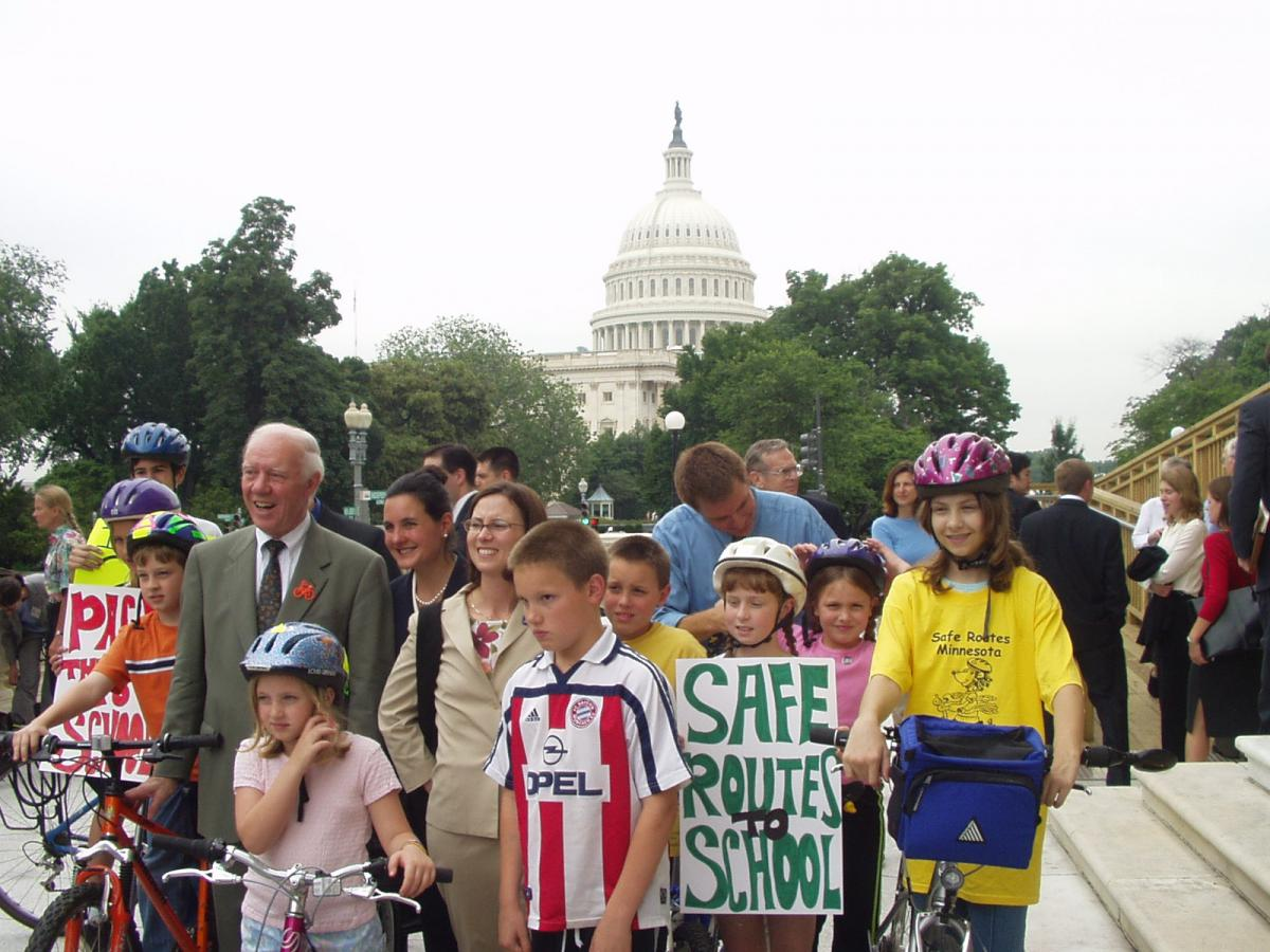 2003: Press conference introducing the first Safe Routes to School bill