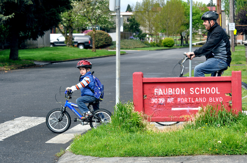 bicycling to school