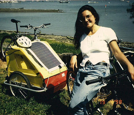 Deb and her solar bike