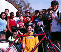 Woodford County Middle School, Versailles, Kentucky, Walk and Bike to School program.