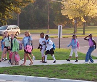 Jackson, Michigan, Frost Elementary Walk to School Day